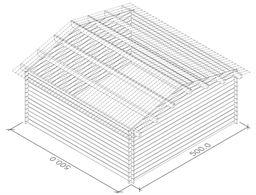 Casetta in legno di abete blockhaus cm 500x500