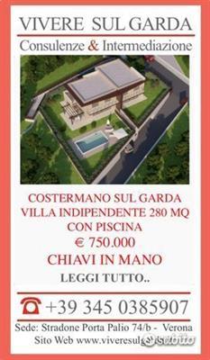 Costermano sul garda villa singola piscina 280 mq